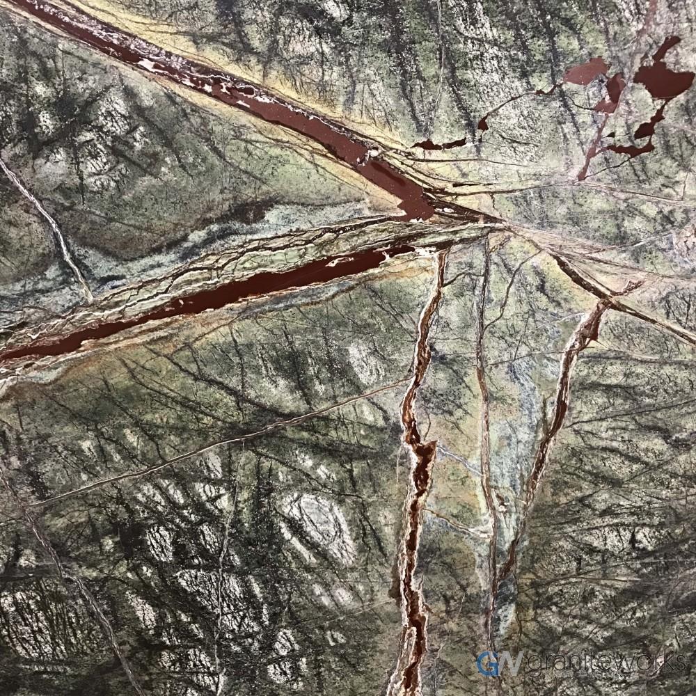 Rain Forest Green Quartzite Graniteworks Austin